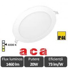 Panou Led Rotund Alb 20W 4000K Alb-Neutru