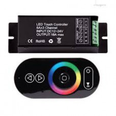 RGBRFC5T , RF TOUCH CONTROLLER FOR RGB , 12-24V ,   216W , 3X6A